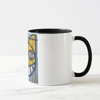 Caged Kitty Cat street art mug