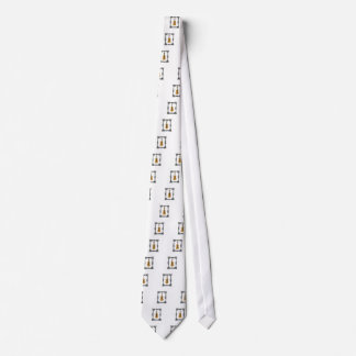 caged violin neck tie