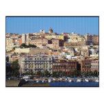 Cagliari, Cerdeña, Italia (efecto de la lona) Tarjetas Postales