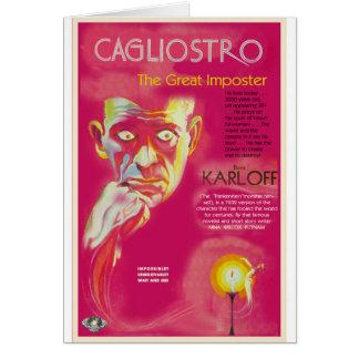 Cagliostro movie poster (Boris Karloff) Card