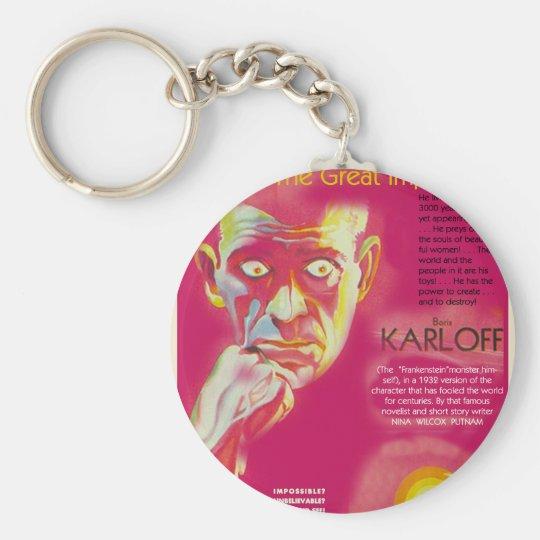 Cagliostro movie poster (Boris Karloff) Keychain