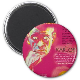 Cagliostro movie poster (Boris Karloff) Magnet