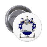 CAHILL FAMILY CREST -  CAHILL COAT OF ARMS 2 INCH ROUND BUTTON