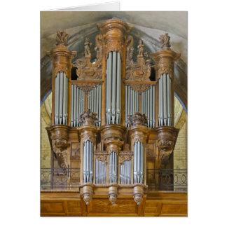 Cahors pipe organ card