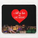 caí en amor con Las Vegas Mousepad Alfombrilla De Ratones