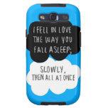 Caí en la galaxia S3 de Samsung del amor Galaxy S3 Cárcasas