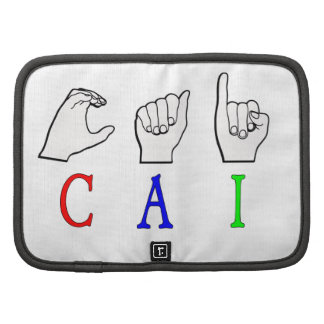 CAI NAME SIGN FINGERSPELLED ASL PLANNERS