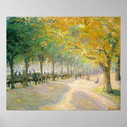 Caída 1890 del otoño del árbol de Hyde Park Camill Posters