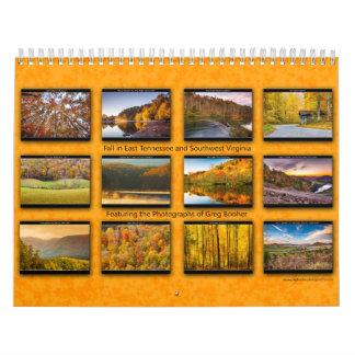 Caída 2014 en Tennessee del este y el sudoeste Calendarios De Pared