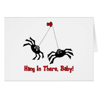 ¡Caída adentro allí, bebé! Araña Tarjeta De Felicitación