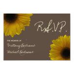 Caída amarilla del girasol que casa RSVP Invitación 8,9 X 12,7 Cm