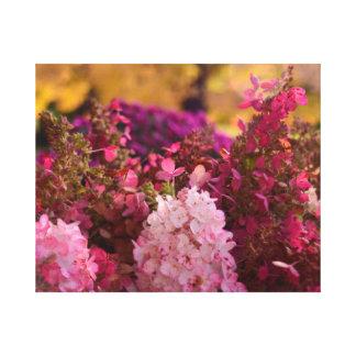Caída asombrosa floral impresión de lienzo