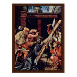 Caída bajo cruz de Cristo de Grünewald Mathis Postal