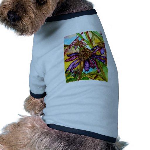 Caída Coneflower Camisetas De Mascota