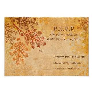 Caída de encaje de las hojas de Tranished que casa Invitaciones Personalizada