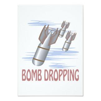 Caída de la bomba invitación 12,7 x 17,8 cm