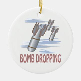 Caída de la bomba ornamento para arbol de navidad
