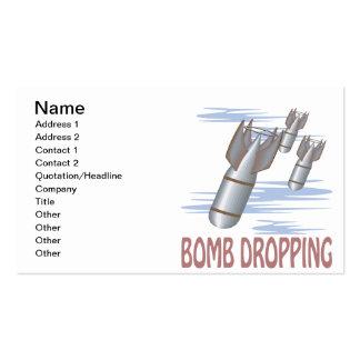 Caída de la bomba tarjeta de visita