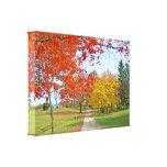 Caída de las hojas de otoño impresión de lienzo
