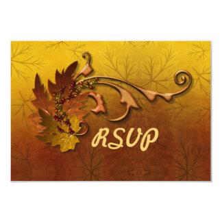 Caída de las hojas de otoño que casa RSVP 2 Invitación 8,9 X 12,7 Cm