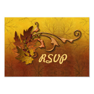 Caída de las hojas de otoño que casa RSVP Invitación 8,9 X 12,7 Cm