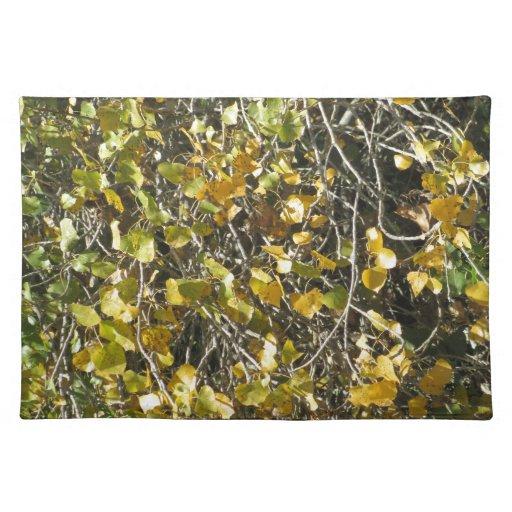 Caída de las hojas manteles