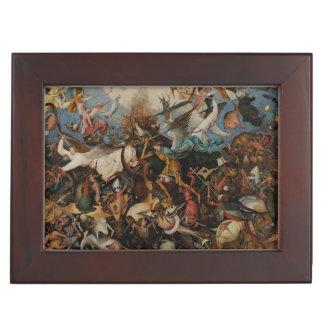 Caída de los ángeles rebeldes de Pieter Bruegel Caja De Recuerdos