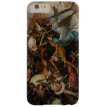 Caída de los ángeles rebeldes de Pieter Bruegel Funda De iPhone 6 Plus Barely There