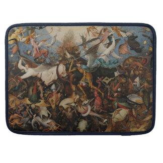 Caída de los ángeles rebeldes de Pieter Bruegel Funda Para Macbook Pro