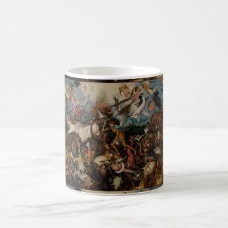 Caída de los ángeles rebeldes de Pieter Bruegel Tazas