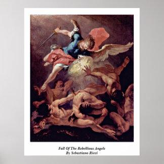 Caída de los ángeles rebeldes de Sebastiano Ricci Póster
