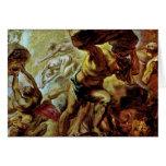 Caída de los titanes de Rubens Peter Paul Tarjeta