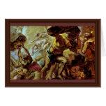 Caída de los titanes de Rubens Peter Paul Felicitación