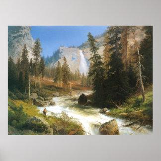 Caída de Nevada, Yosemite, por Hermann Herzog Póster