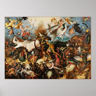 Caída de Pieter Bruegel de la pintura rebelde de l Poster