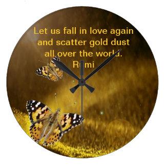 Caída de Rumi en amor otra vez Reloj Redondo Grande