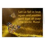 Caída de Rumi en amor otra vez Tarjeta De Felicitación