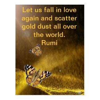 Caída de Rumi en amor otra vez Tarjeta Postal