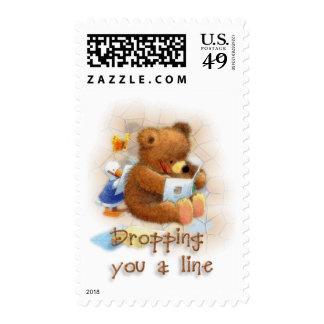 Caída de una línea sello postal