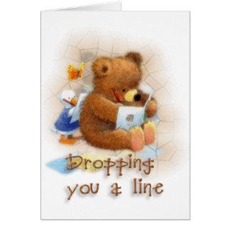 Caída de una línea tarjeta de felicitación