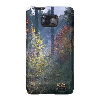 Caída de Vermont del bosque de la mañana Samsung Galaxy S2 Fundas