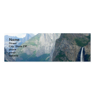 Caída de Yosemite Bridalveil Tarjetas De Visita