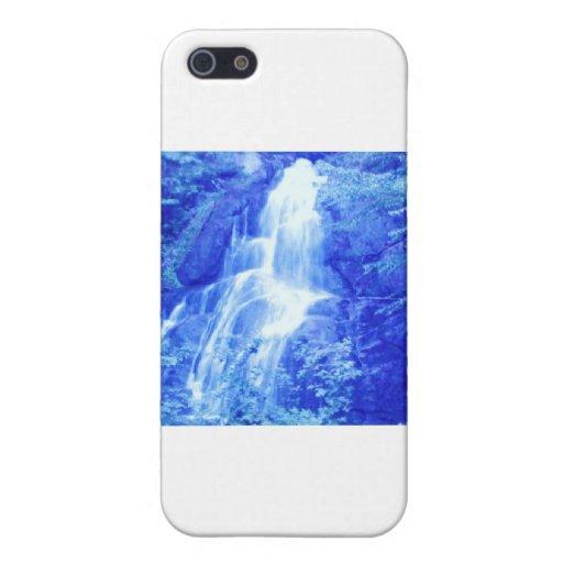caída del agua azul iPhone 5 carcasa