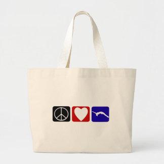 Caída del amor de la paz bolsa de mano