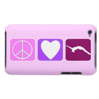 Caída del amor de la paz cubierta para iPod de barely there