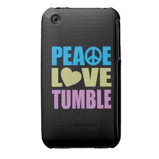 Caída del amor de la paz iPhone 3 Case-Mate coberturas