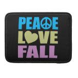 Caída del amor de la paz fundas para macbook pro