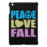 Caída del amor de la paz iPad mini protectores