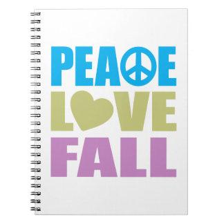 Caída del amor de la paz libros de apuntes
