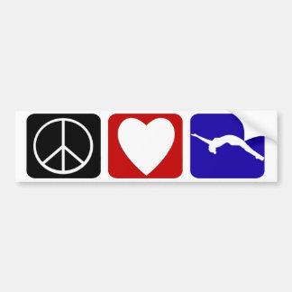 Caída del amor de la paz pegatina para auto